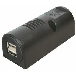 USB A-naaras 5A 2x2,5A pinta-asennus 9-32V->5V