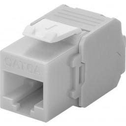 CAT6a-runko RJ45 > LSA UTP Keystone-moduuli harmaa