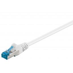 CAT6a-välijohto S/FTP valkoinen 2m LSZH CU bulk