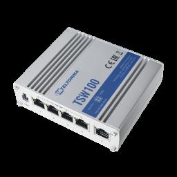 5 porttinen kytkin POE 1GB 802.3af/at  120w PnP