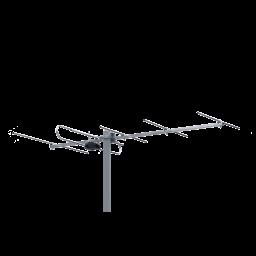 TV-antenni VHF K5-12 6-7,5dBii 6 element 1220 mm 10 kpl/ltk