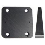 Brodit kiinnityslevy, viisto 10° 50x50x5-14 mm, 6 reikää