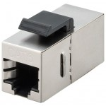 CAT6-runko STP läpivienti Keystone-moduuli hopea