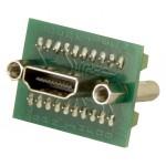 HDMI A naaras, ruuviliitos