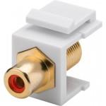Adapteri RCA-naaras > F-naaras Keystone-moduuli punainen