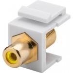 Adapteri RCA-naaras > F-naaras Keystone-moduuli keltainen