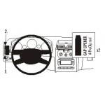 ProClip autokoht kiinnike VW Touran 03-14 vasen