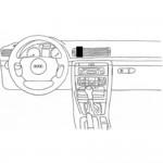 ProClip autokoht kiin Volvo S80 V70 XC70 12-16 keski ei puu