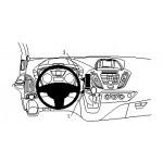 ProClip autokohtainen kiinn kesk Ford Transit Custom 13-18