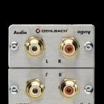 PRO IN audio 2RCA naarasliitin naaras/naaras