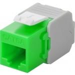 CAT6a-runko RJ45 > LSA UTP Keystone-moduuli vihreä