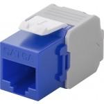 CAT6a-runko RJ45 > LSA UTP Keystone-moduuli sininen
