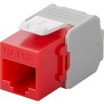 CAT6a-runko RJ45 > LSA UTP Keystone-moduuli punainen