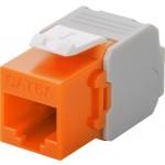 CAT6a-runko RJ45 > LSA UTP Keystone-moduuli oranssi