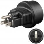 Virta-adapteri CEE7/4 naaras/USA Uros