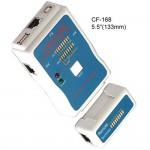 testeri RJ45, USB, RJ11/RG12 BNC, RCA johto ja linjatesti
