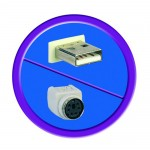 Adapteri USB-A-uros/PS2-naaras