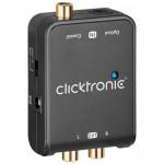 Digitaali/analogi-audiomuunnin TS/RCA -> 2 RCA Clicktronic