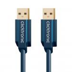 USB-välij 1,0m A-uros/A-uros Clicktronic 3.0