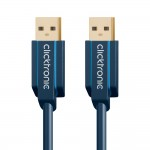 USB-välij 3,0m A-uros/A-uros Clicktronic 3.0