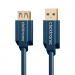 USB-välij 1,8m A-uros/A-naaras Clicktronic 3.0