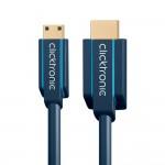 HDMI/HDMI-mini-välijohto 1m HighSpeed w/ Eth Clicktronic Cas