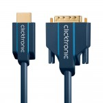 HDMI/DVI-välijohto 1m Clicktronic Casual