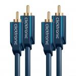 välij 2RCA-uros/2RCA-uros 5m Clicktronic