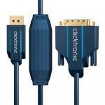 DisplayPort/DVI-välijohto 2,0m Clicktronic