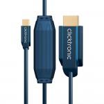MiniDP/HDMI-välijohto 1,0m Clicktronic