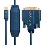 MiniDP/DVI-välijohto 1,0m Clicktronic