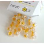 Teleliitin 2 johtoa 0,4-0,65mm (22-26) keltainen