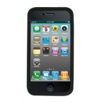 iPhone 4 -suojakuori silikonia sis. näytön suojakalvo