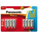 Alkaaliparisto LR6 8xAA 1,5V Panasonic Pro Power