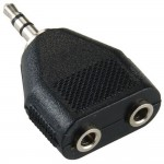 Adapteri 3,5mm(u)/2x3,5mm(n) stereo, IP-pakattu