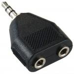 Adapteri 3,5mm(u)/2x3,5mm(n) stereo, IP-pakattu