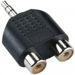Adapteri 3,5mm(u)stereo/2xRCA(n) IP-pakattu