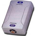 Optinen/koaksiaali-muunnin Toslink>RCA 6V/250mA sis,verkkol