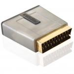 Scart/RGB-adapteri PG SKY Scart-uros/3xRCA-naaras (kompon.