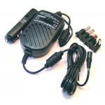 Invertteri 11-14V>15-24V 2,9Amax tupakansytyttimeen, 6xDC-pistoke