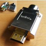 HDMI-pistoke 19n juotettava TASKER ø10mm kaap TSK1062