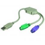 Adapteri USB-A/2xPS2 hiiri+näpp.