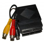 Scart-adapteri naar/uros+3RCA RCA>SCART