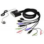 HDMI USB KVM kytkin 2>1 audio