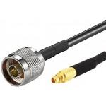 RF-adapterivälijohto 0,3 m N-uros/MMCX-uros RG316