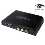 AV/S-VIDEO -> HDMI konvertteri RCA, MINIDIN, HDMI ->HDMI