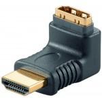 HDMI-A-uros/naaras kulma-adapt. 90° IP-pakattu