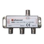 Jaotin 1/3 5-2400MHz DC läpimeno 6,5dB jakovaimennus