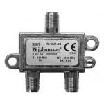 Yhdyssuodin TV/SAT DC läpi sisäk 5-862 (1dB)/950-2300MHz (2dB)