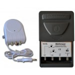 Mastovahvistin FM/VHF/UHF20-35dB 3 tuloa +verkkol. 24V, LTE700
